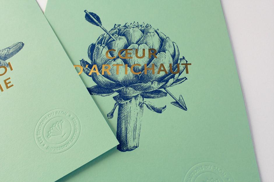 coeur d'artichaut letterpress affiche