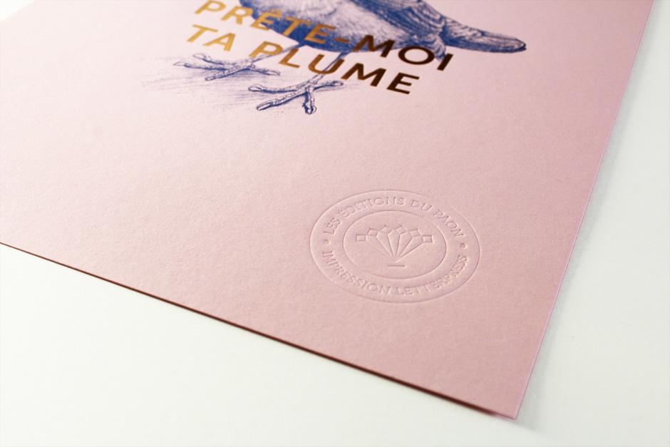 affiche letterpress les editions du paon